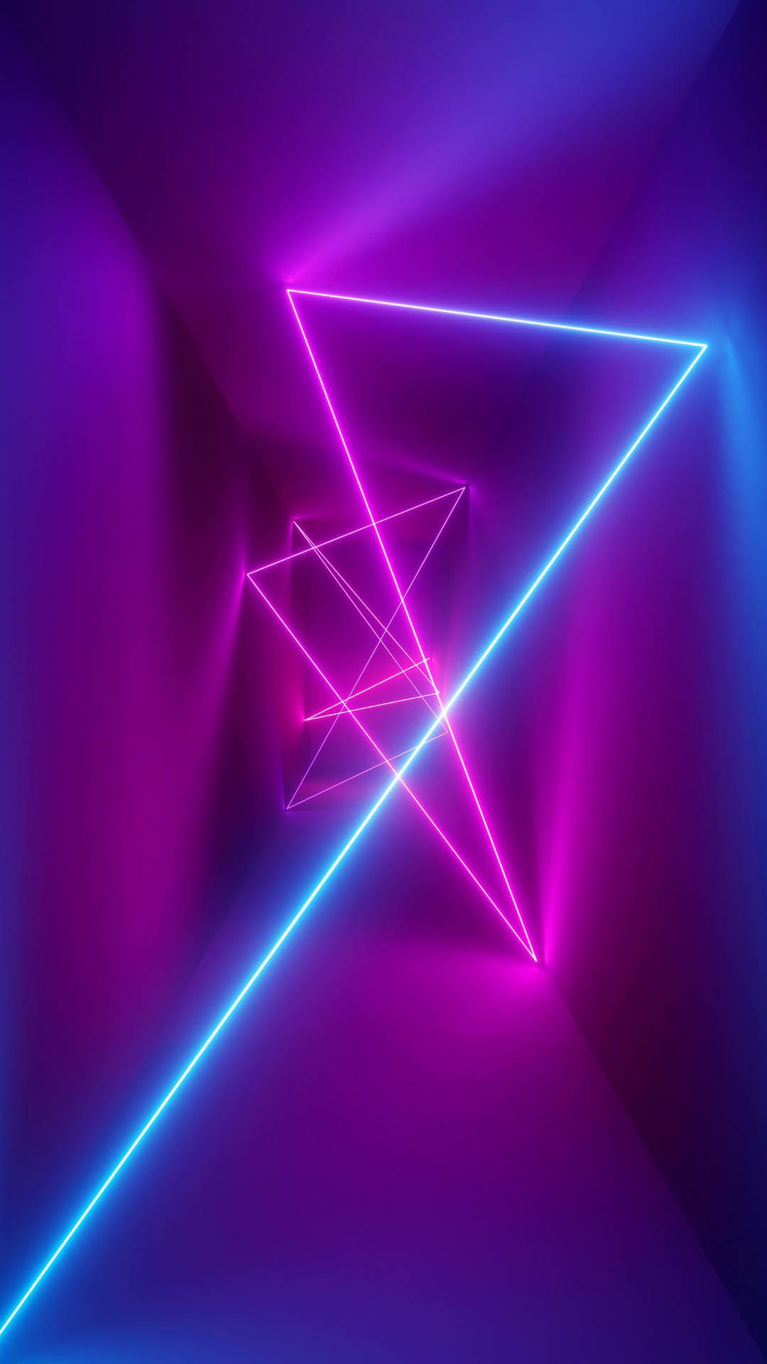 Neon Rays iPhone Wallpaper