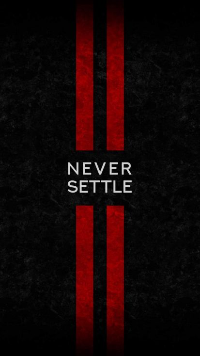 Never Sattle iPhone Wallpaper