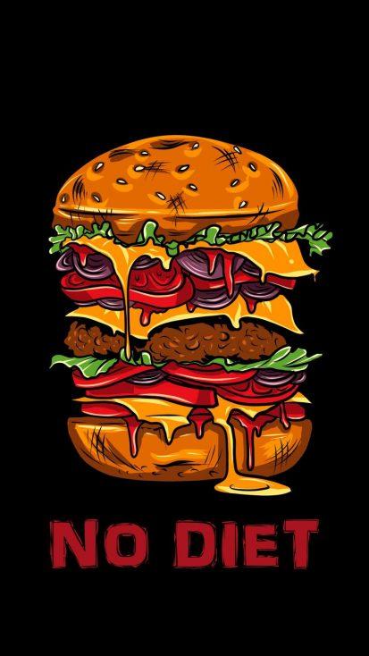 No Diet iPhone Wallpaper
