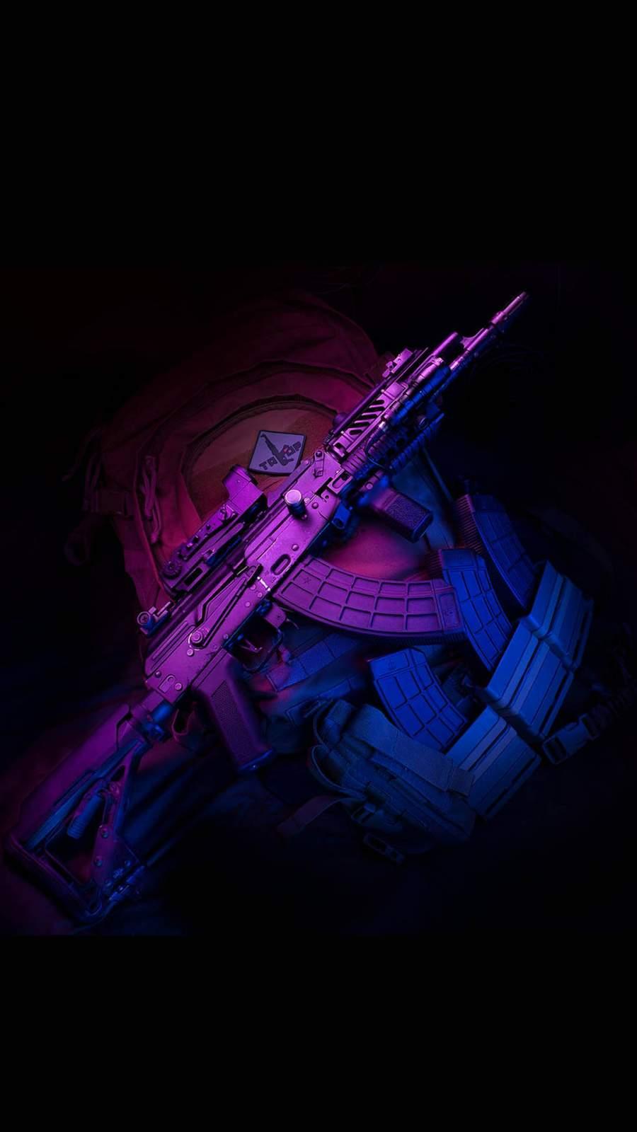 PUBG Gun iPhone Wallpaper