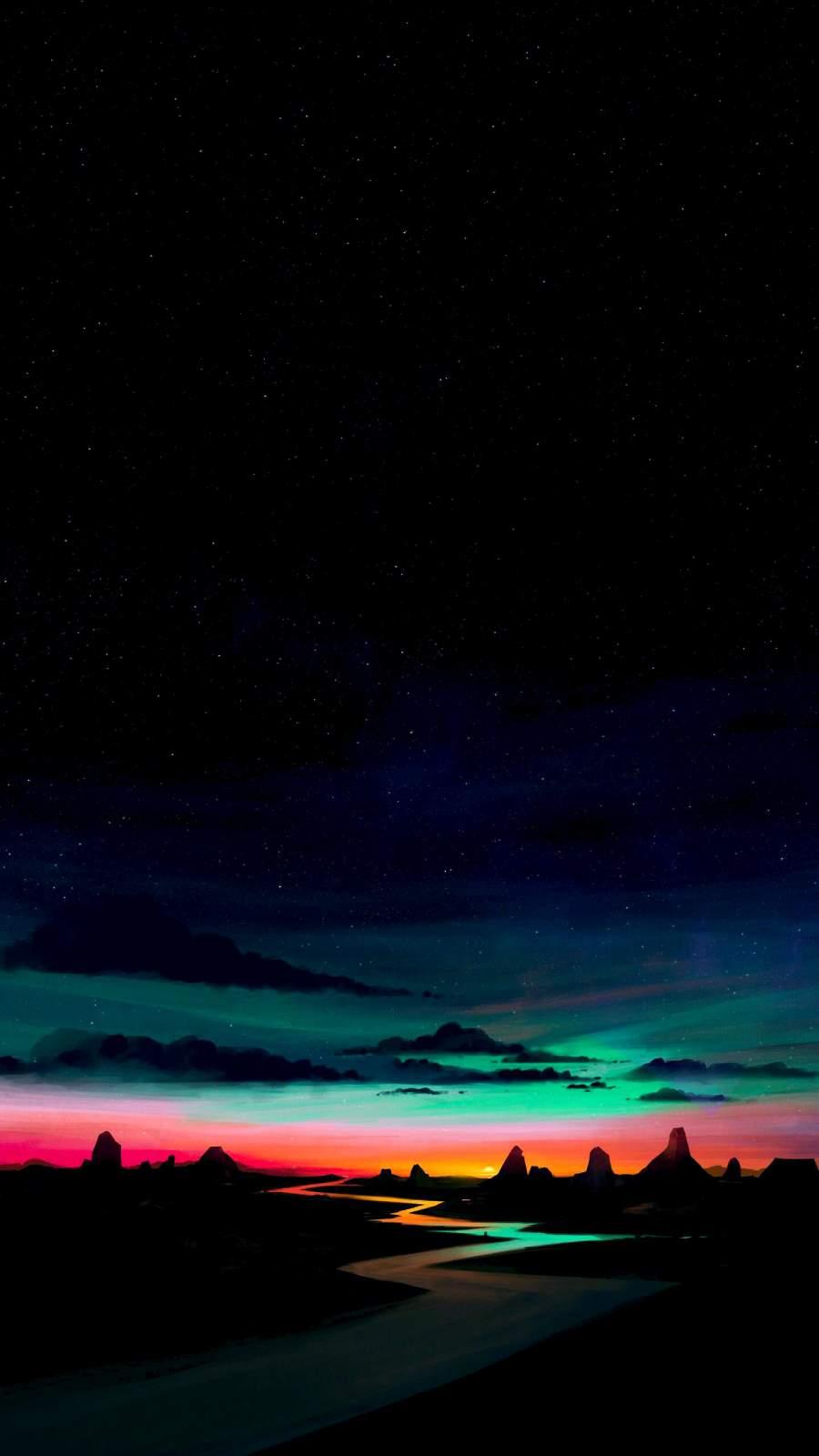 Pastel Sunset iPhone Wallpaper