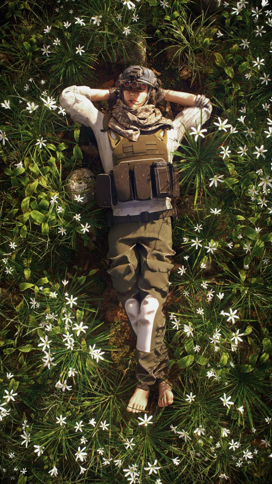 Resting Soldier iPhone Wallpaper