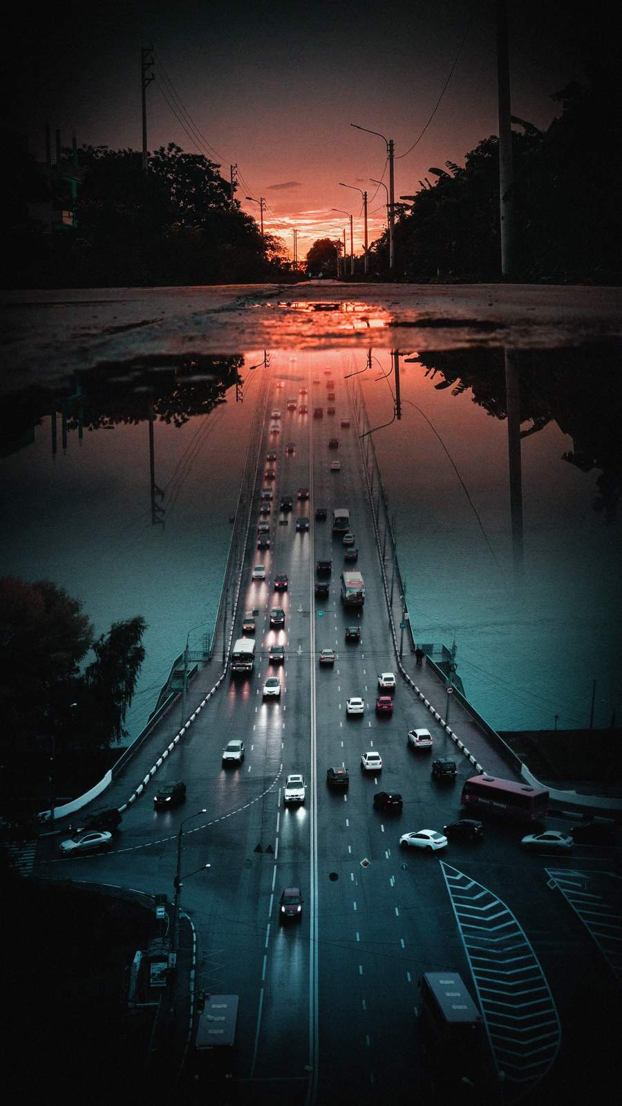 Road Illusion iPhone Wallpaper