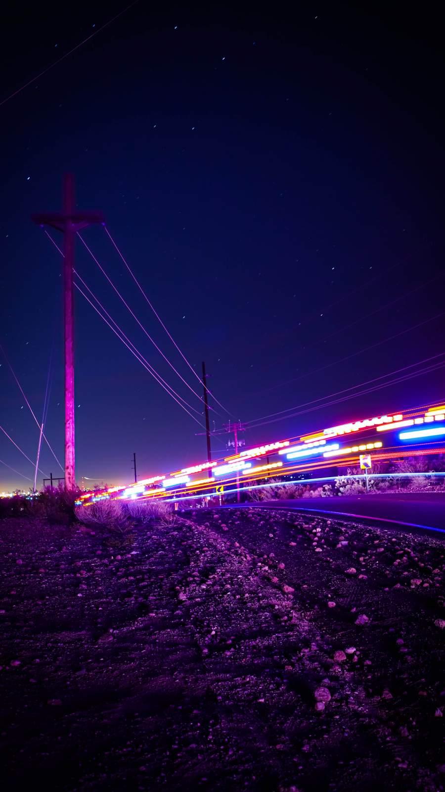 Road Light Long Exposure