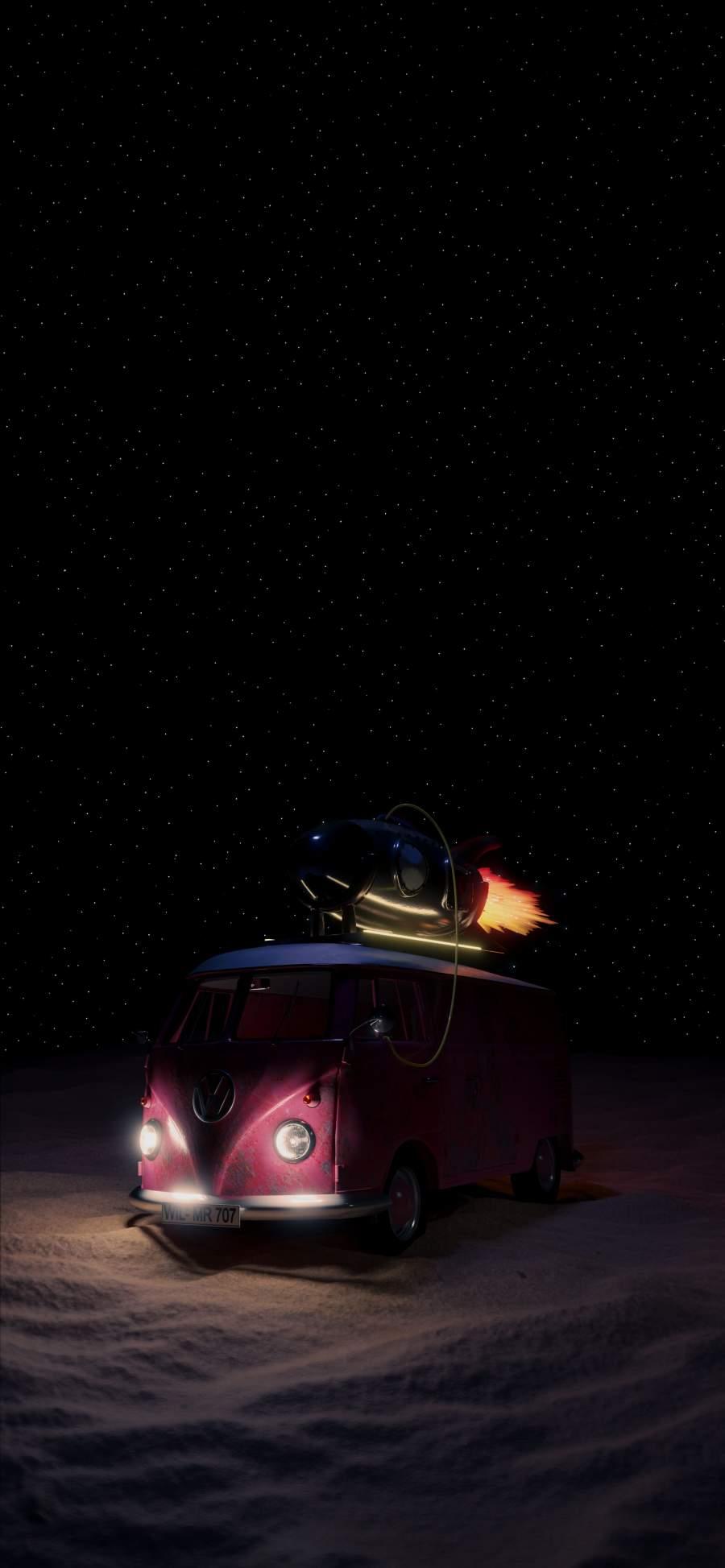 Rocket Van iPhone Wallpaper