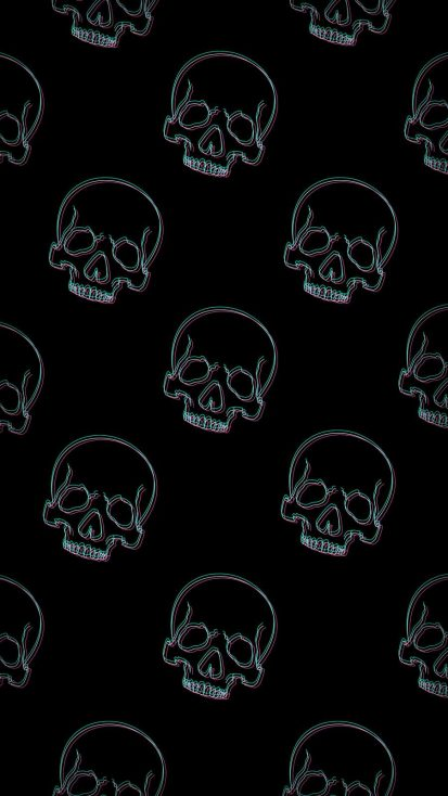 Skull Pattern iPhone Wallpaper