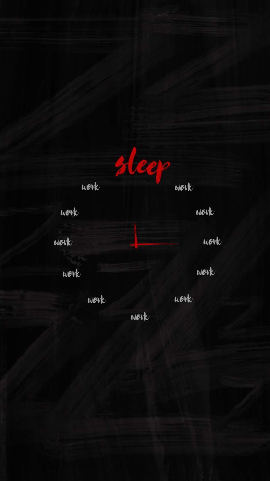Sleep Clock iPhone Wallpaper
