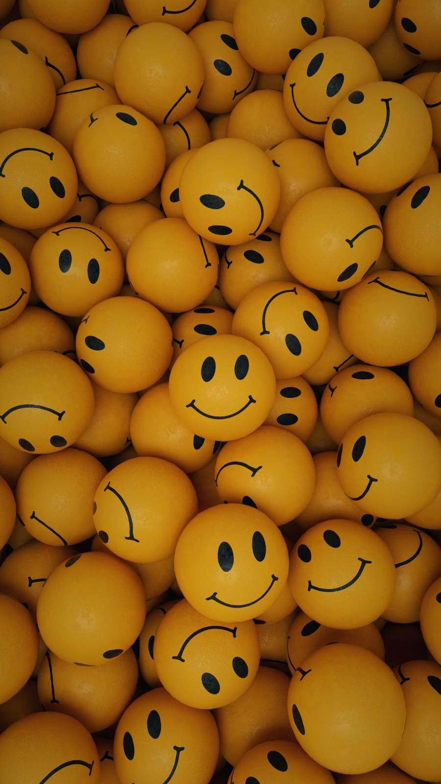 Smile Balls iPhone Wallpaper