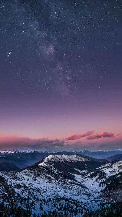 Snow Covered Mountains Space View