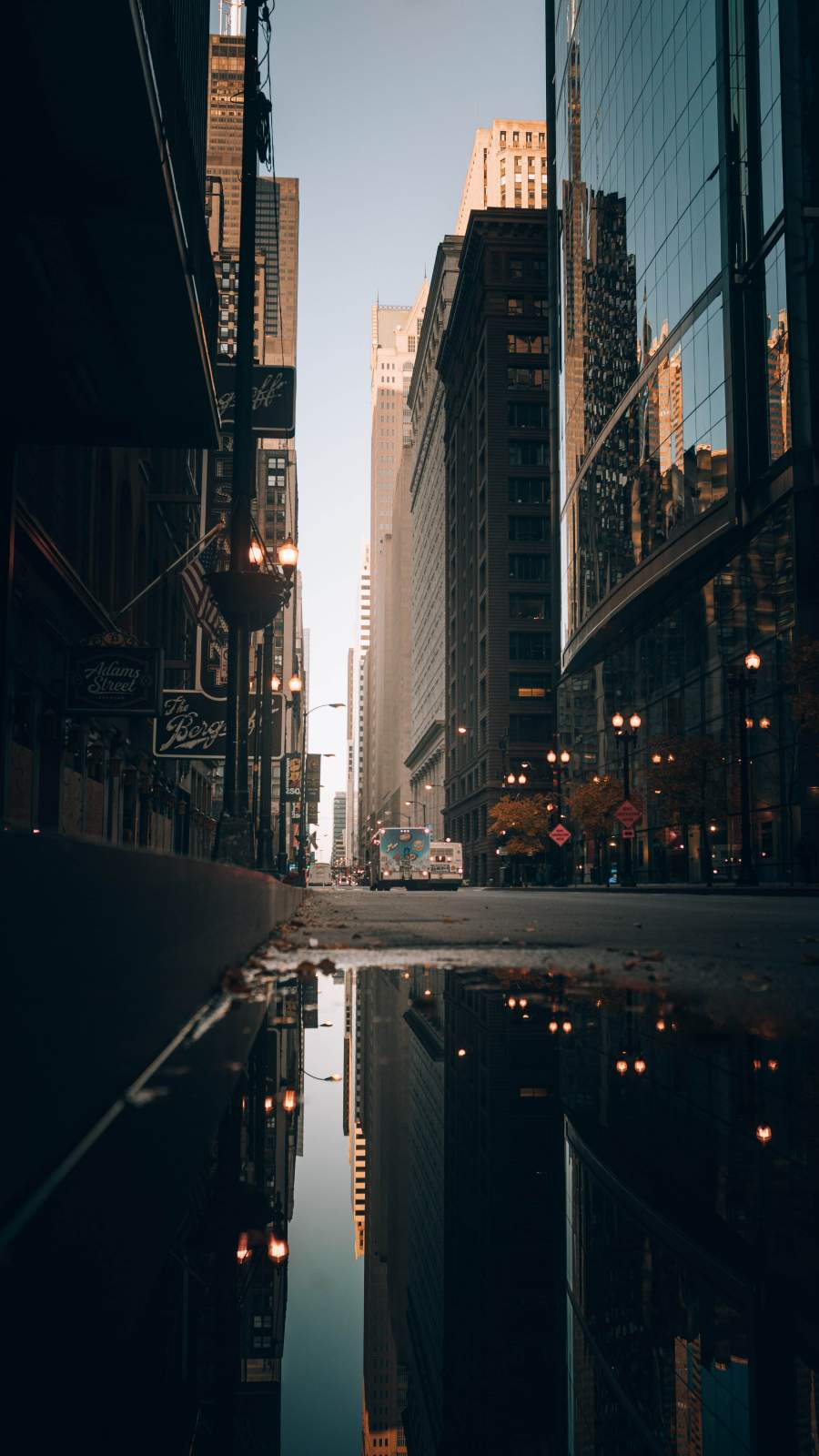 Street Water City Reflection