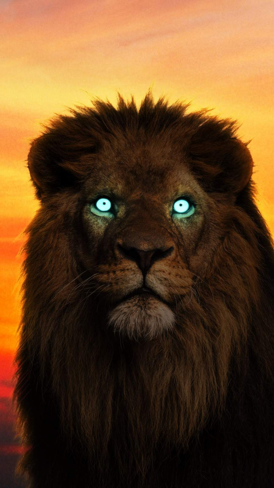 The King Lion Glowing Eyes