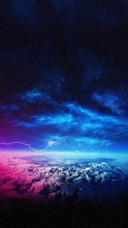 Thunderstorm Over Mountains