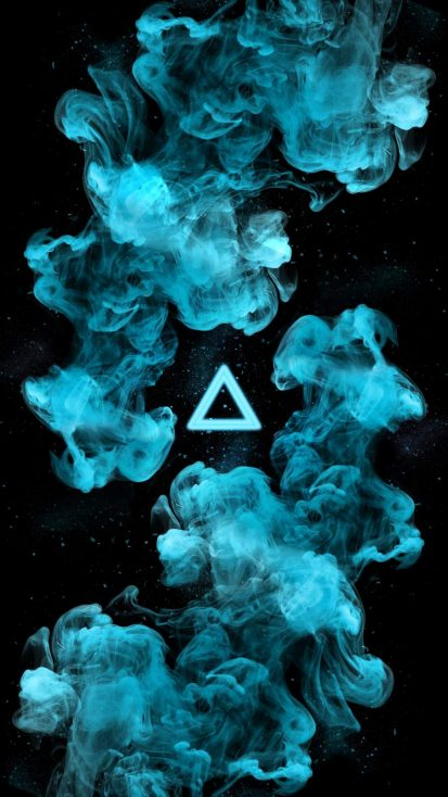 Triangle Smoke iPhone Wallpaper