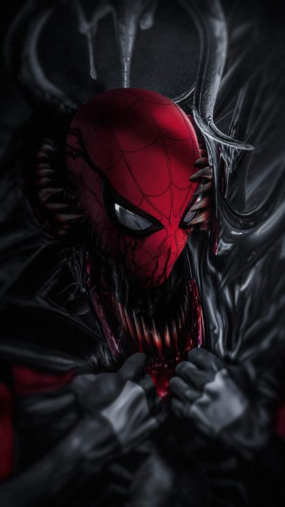 Venom vs Spiderman iPhone Wallpaper