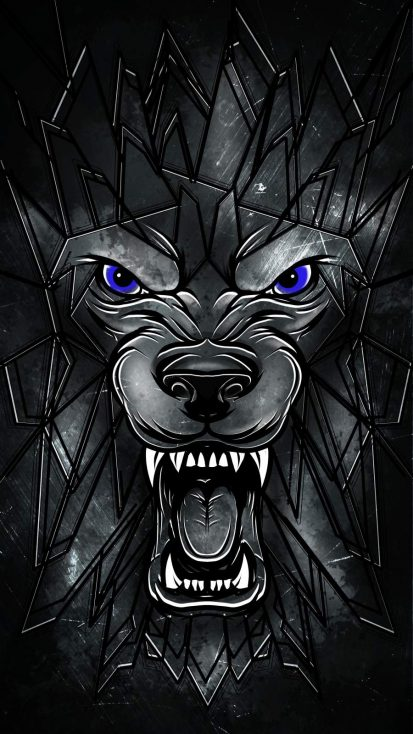 Wolf Face Art iPhone Wallpaper