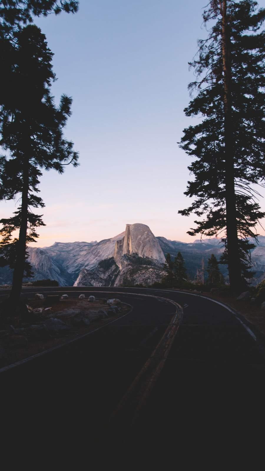 Yosemite Road iPhone Wallpaper