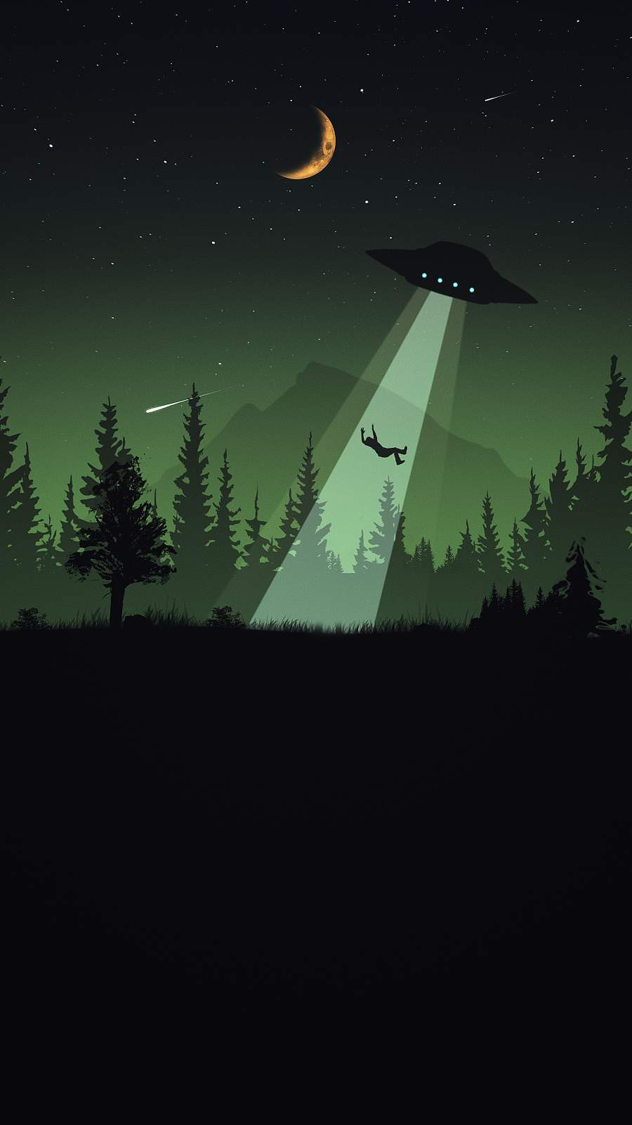 Alien Attack iPhone Wallpaper