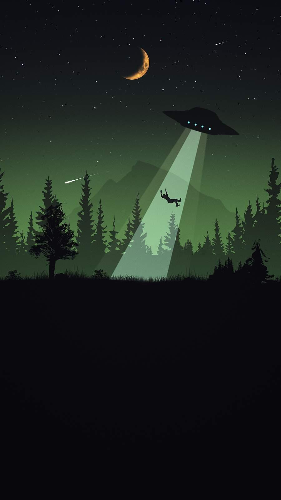 Alien Attack iPhone Wallpaper
