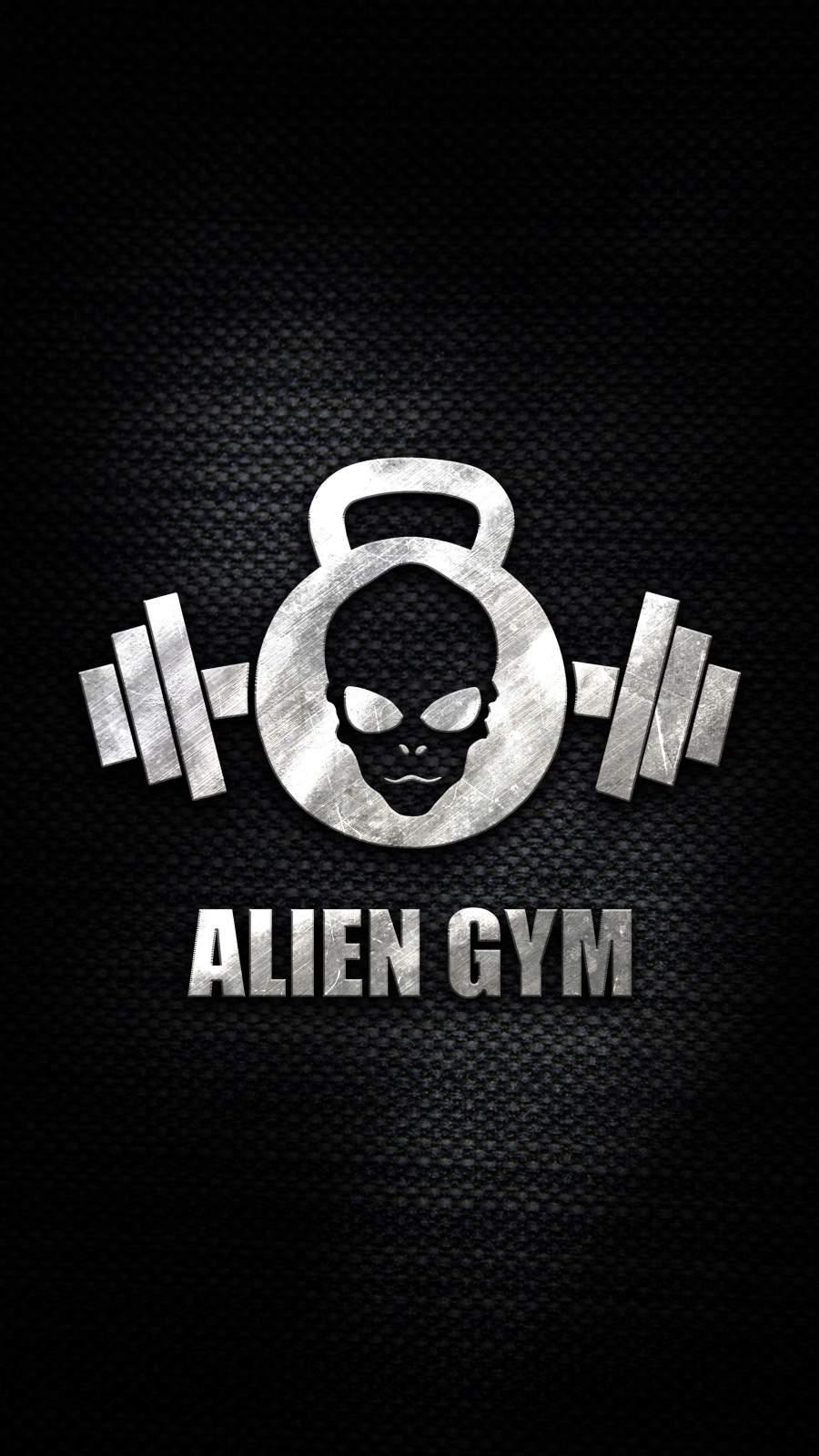 Alien Gym iPhone Wallpaper