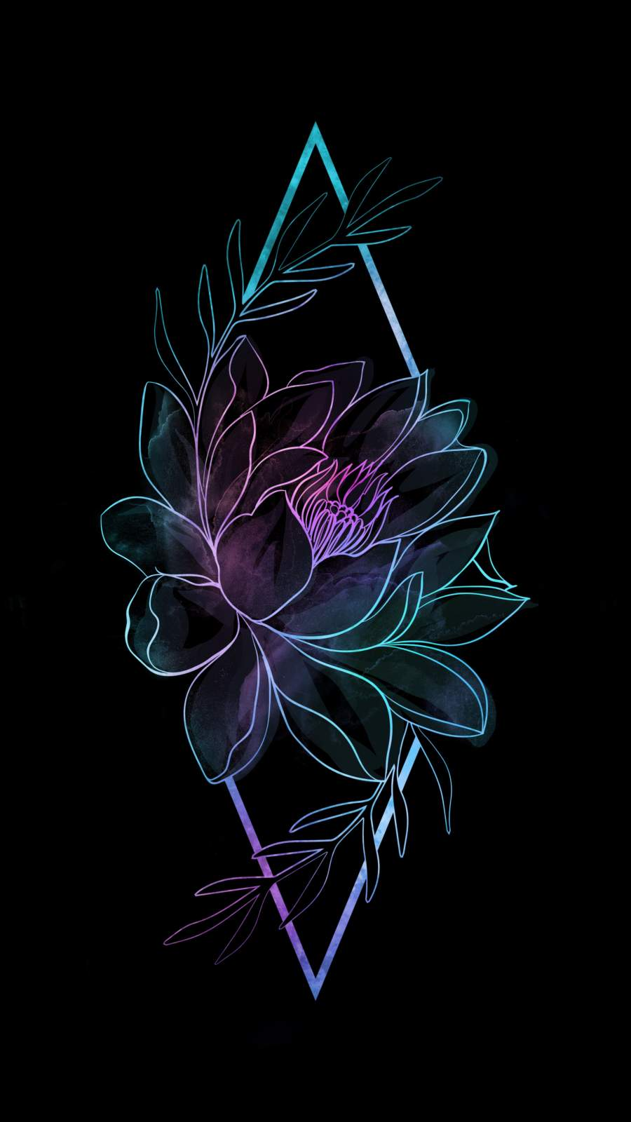 Amoled Flower iPhone Wallpaper