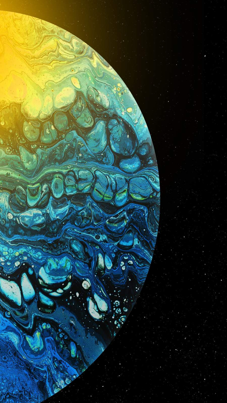 Amoled Oil Planet iPhone Wallpaper