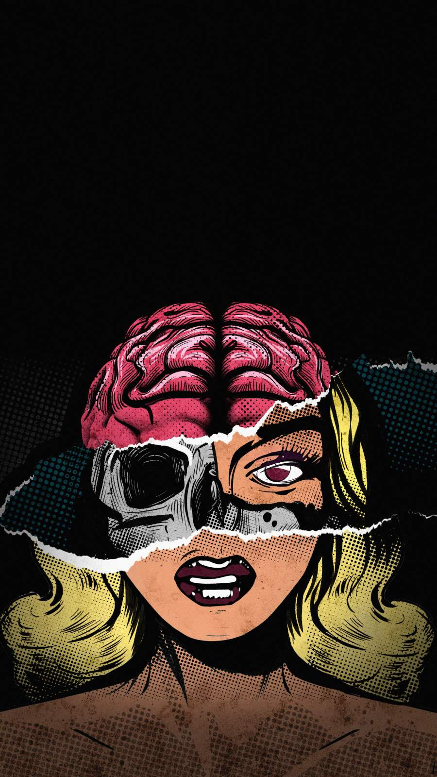 Beauty with Brain iPhone Wallpaper