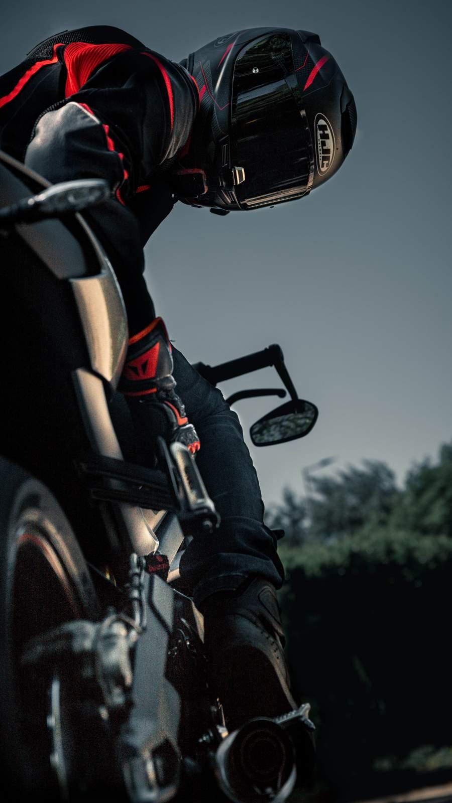 Biker Racing iPhone Wallpaper