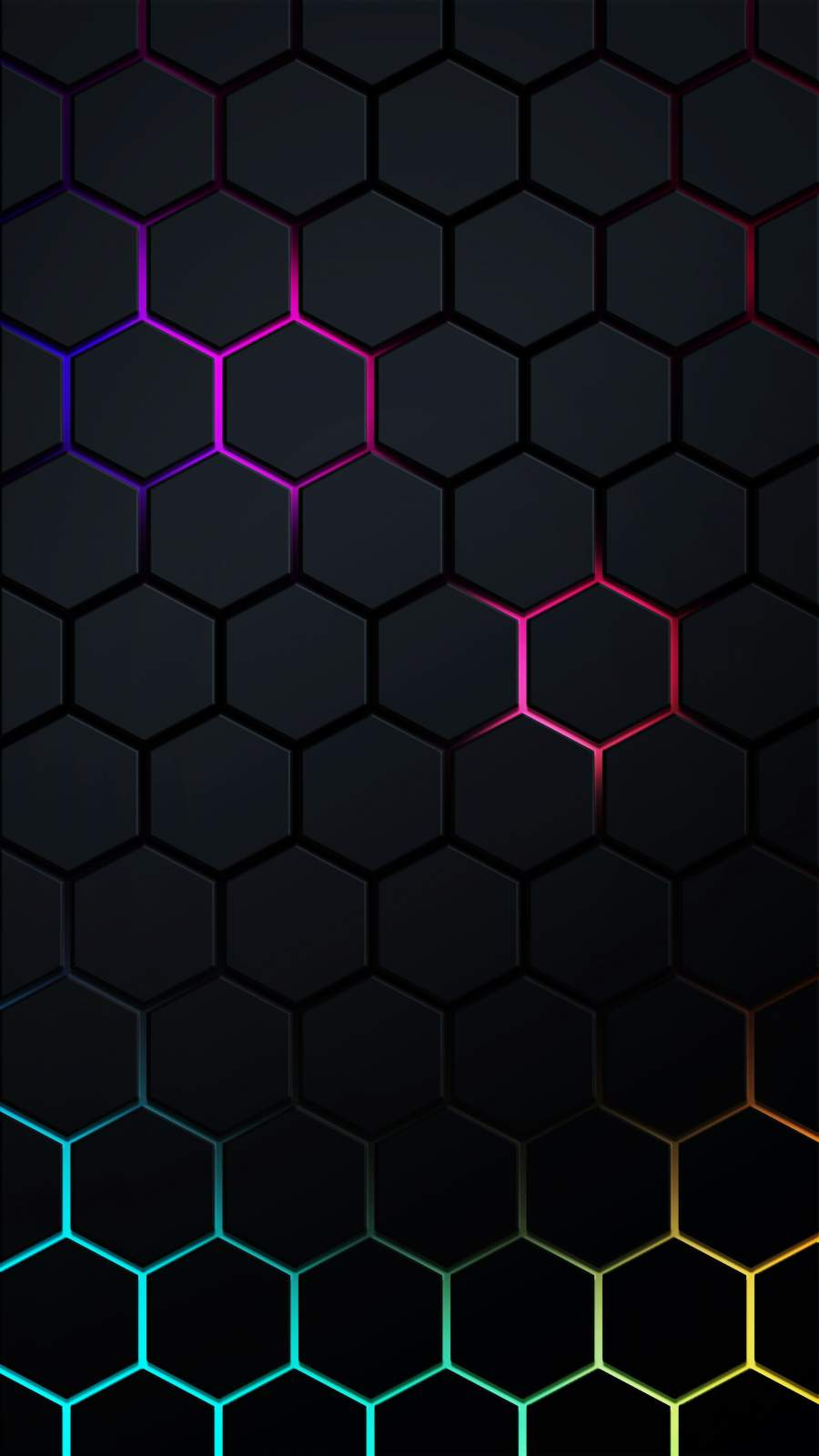 Black Hexagon Neon