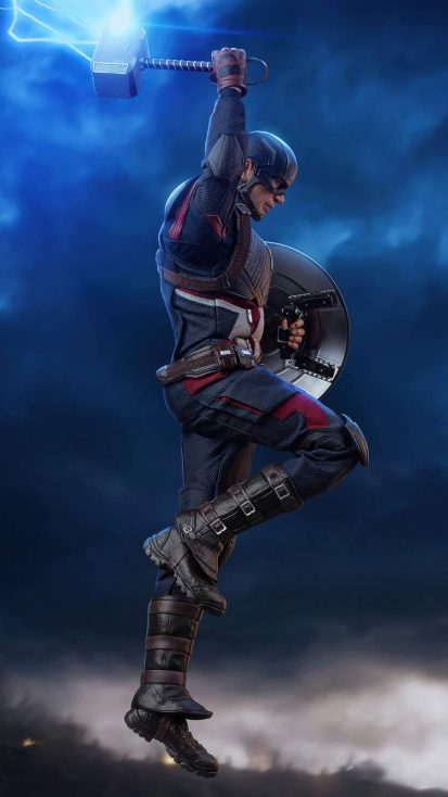 Captain America with Lightning Hammer