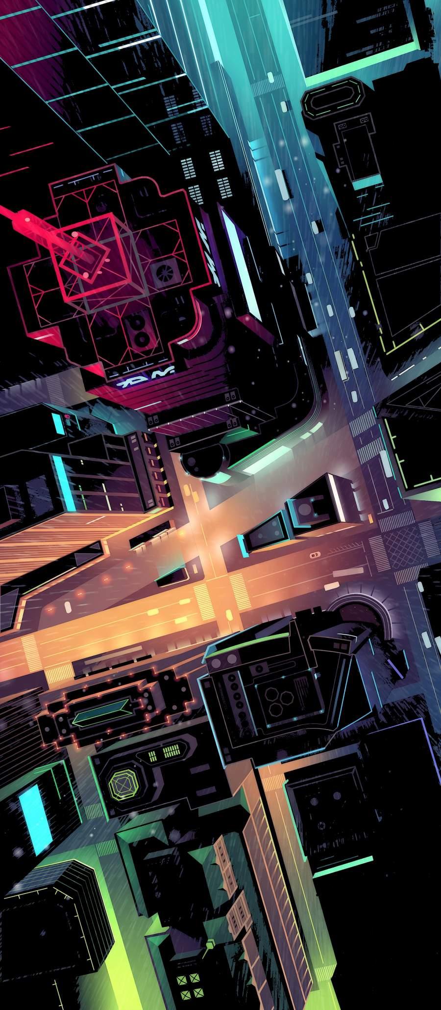 City Roads iPhone Wallpaper