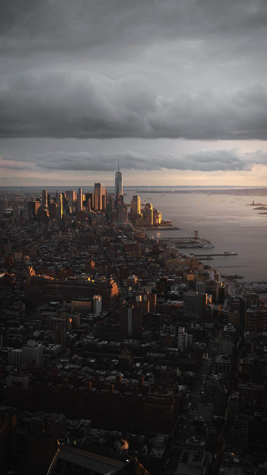 City Sunset Sea iPhone Wallpaper