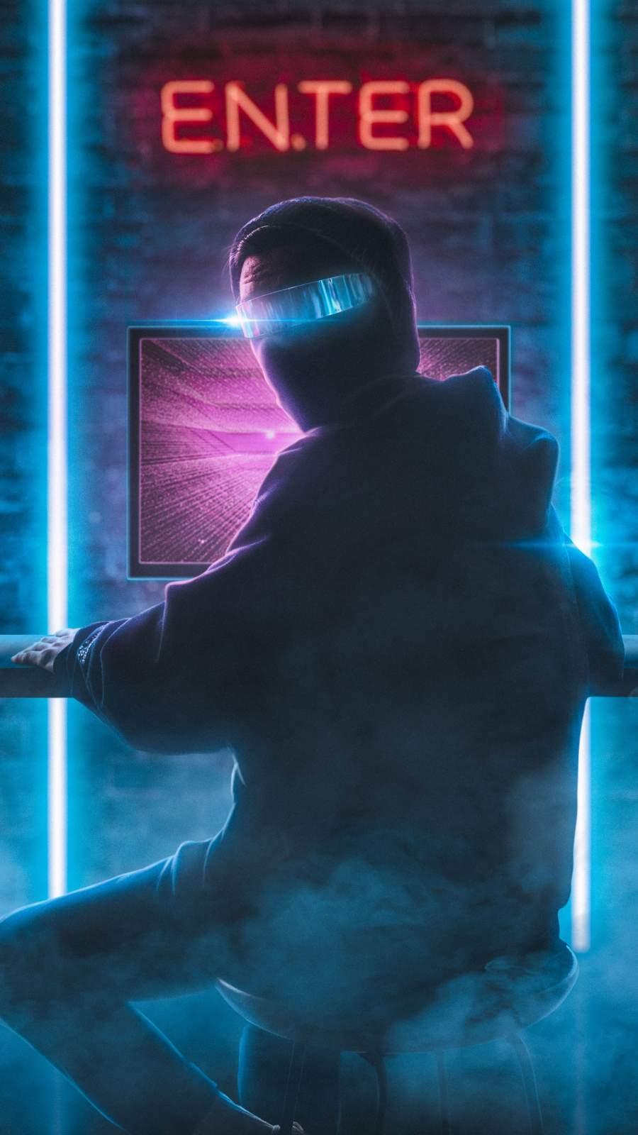 Computer Hacker iPhone Wallpaper