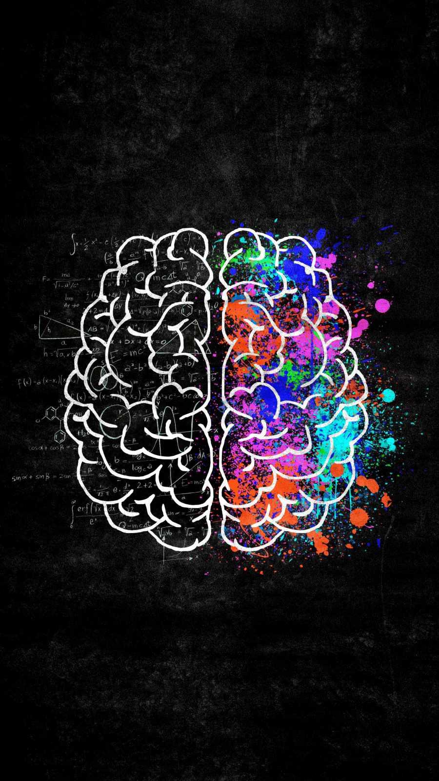Creative Brain iPhone Wallpaper