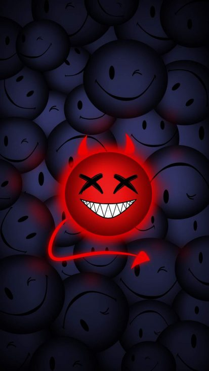 Devil Smile iPhone Wallpaper