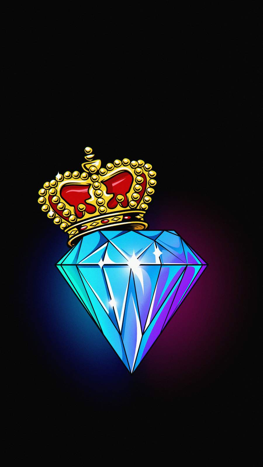 Diamond King iPhone Wallpaper