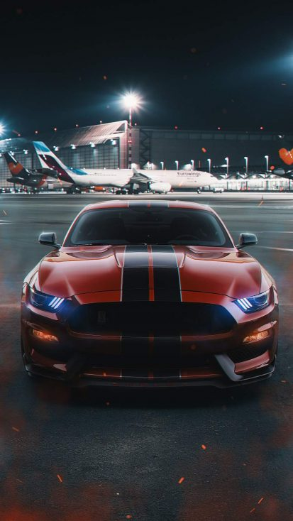 Ford Mustang on Runway