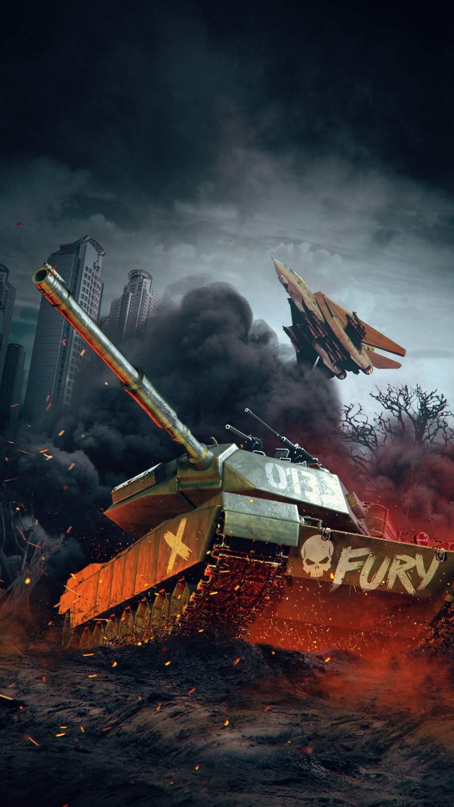 Fury Tank iPhone Wallpaper