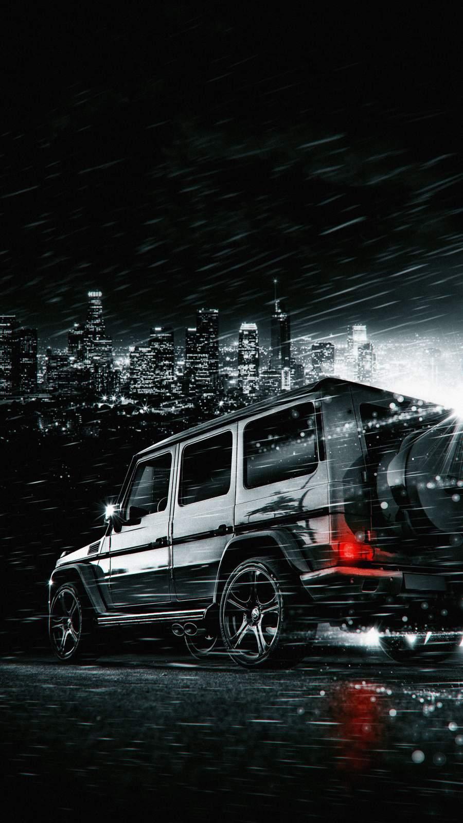 G Wagon in Night iPhone Wallpaper