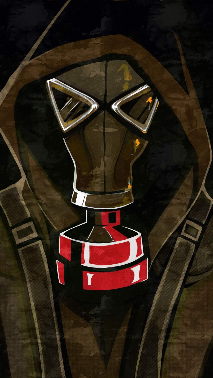 Gas Mask Hoodie Guy Art