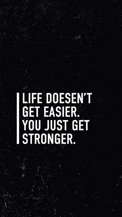 Get Stronger Quote iPhone Wallpaper