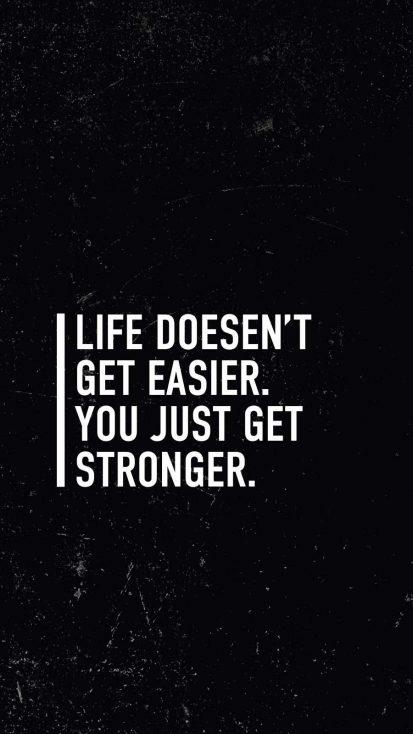 Get Stronger Quote iPhone Wallpaper