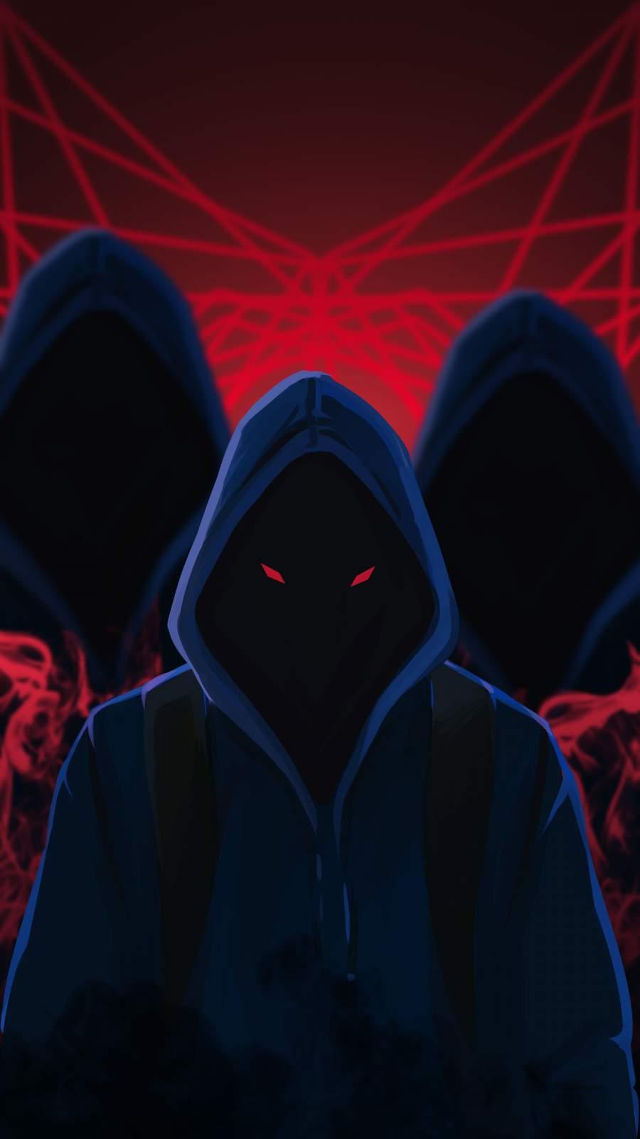 Hoodie Monsters iPhone Wallpaper
