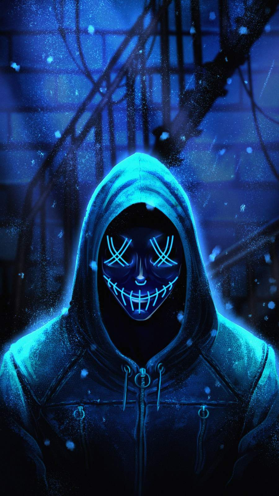 Hoodie Stitched Mask Guy
