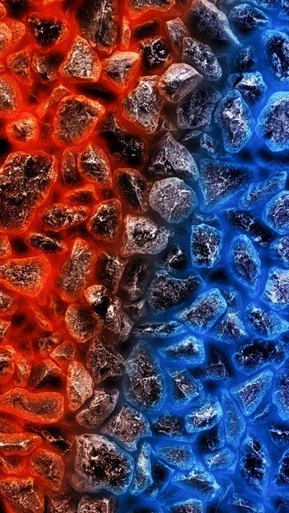 Hot vs Cold iPhone Wallpaper