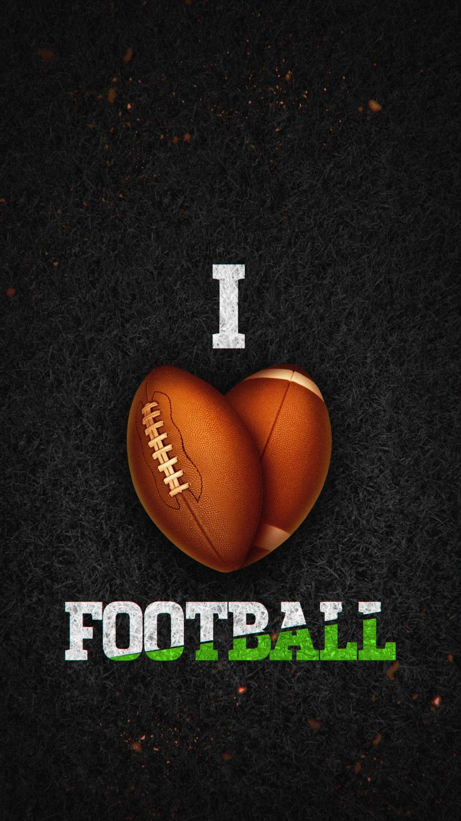 I Love Football iPhone Wallpaper