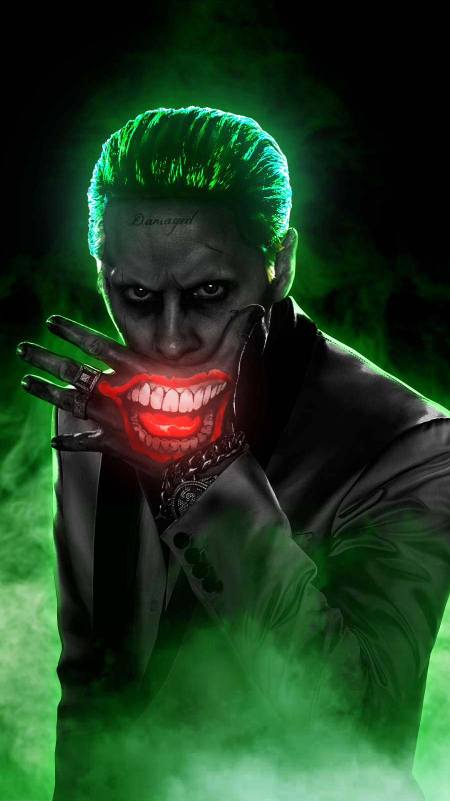 Jared Leto Joker iPhone Wallpaper