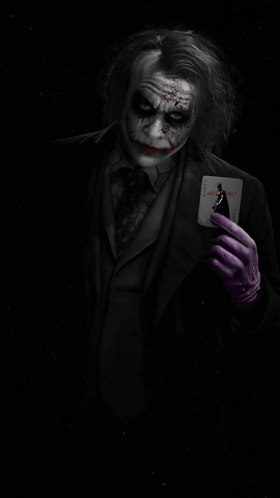 Joker Heath Ledger with Card