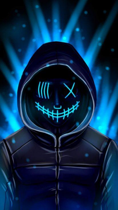 Masked Hoodie Guy iPhone Wallpaper
