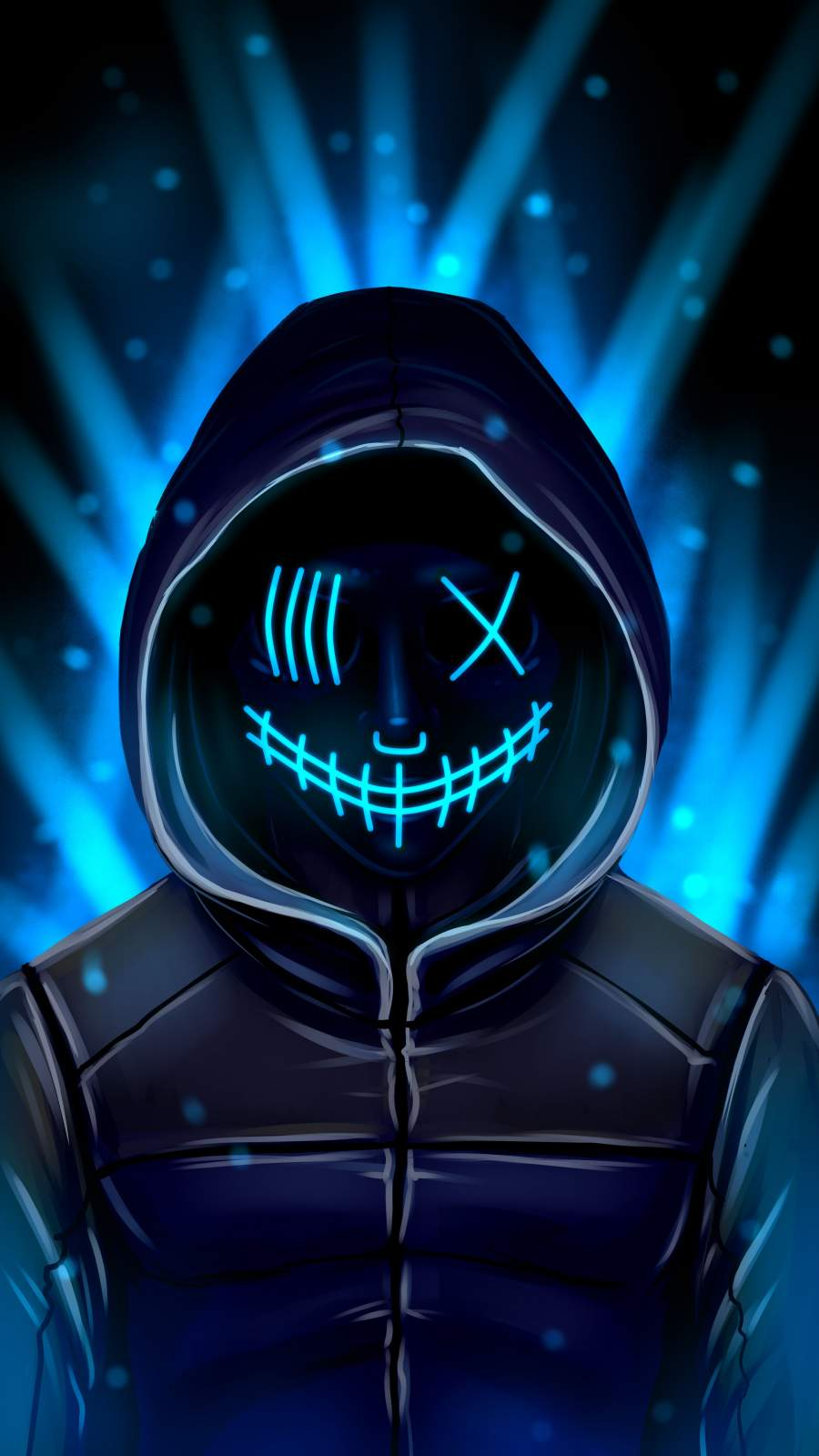 Masked Hoodie Guy iPhone Wallpaper