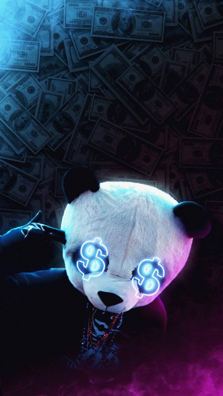 Money Panda iPhone Wallpaper